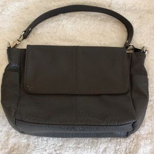 Jewell by Thirty-One Gray Flap Satchel Bag
